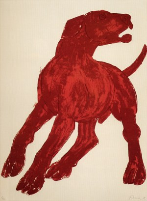 Red Dog Signed  by Elisabeth Frink