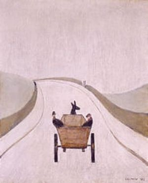 The Cart Signed  by L.S. Lowry