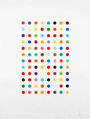 Xylene Cynol Dye Solution (spot print) Signed  by Damien Hirst