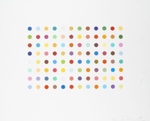 Bromphenol Blue (spot print) Signed  by Damien Hirst