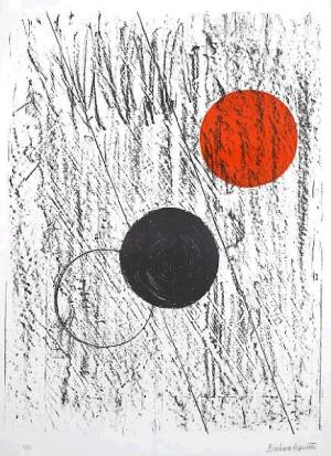 Sun and Moon Signed  by Barbara Hepworth