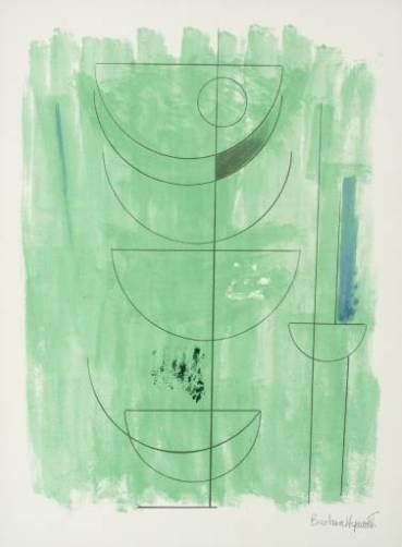 Green Man Signed  by Barbara Hepworth