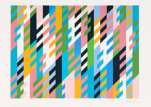 New Day Signed  by Bridget Riley