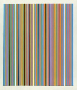 RA Inverted Signed  by Bridget Riley