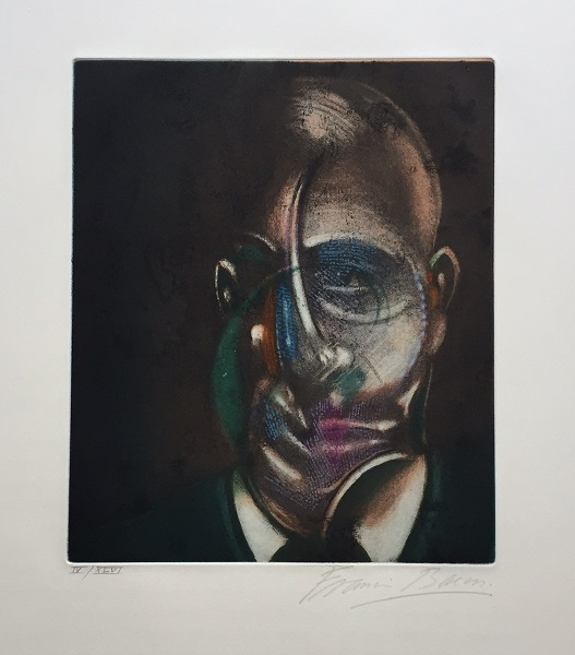 Portrait of Michel Leiris 1976 Signed  by Francis Bacon