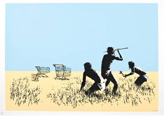 Trolley Hunters Signed  by  Banksy