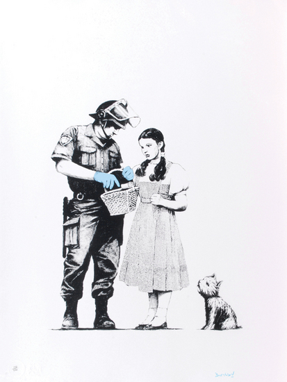 Stop and Search Signed  by  Banksy