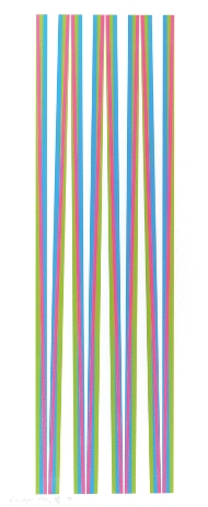 Elongated Triangles 5 Signed  by Bridget Riley