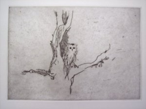 Little owl - Self portrait Signed  by Tracey Emin