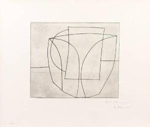 Crystal Signed  by Ben Nicholson