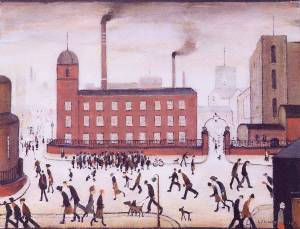 Mill Scene Signed  by L.S. Lowry