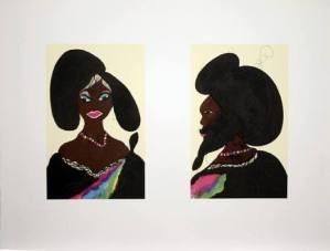 Afro Harlem Muses Signed  by Chris Ofili