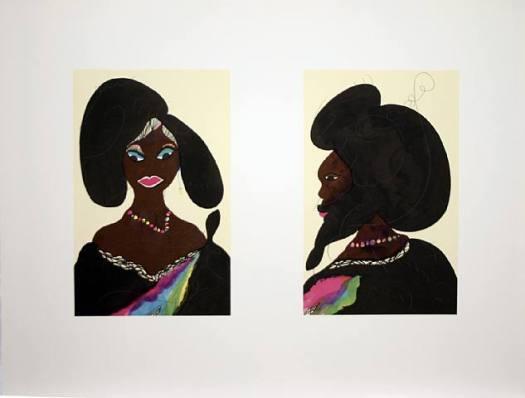 Afro Harlem Muses Signed  by Chris Ofili