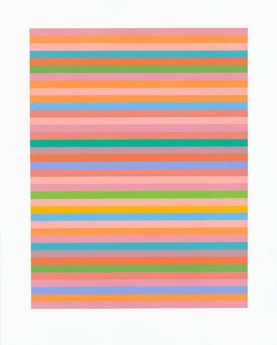 Rose Rose Signed  by Bridget Riley