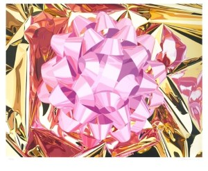 Pink Bow (Celebration series) 2013 Signed  by Jeff Koons