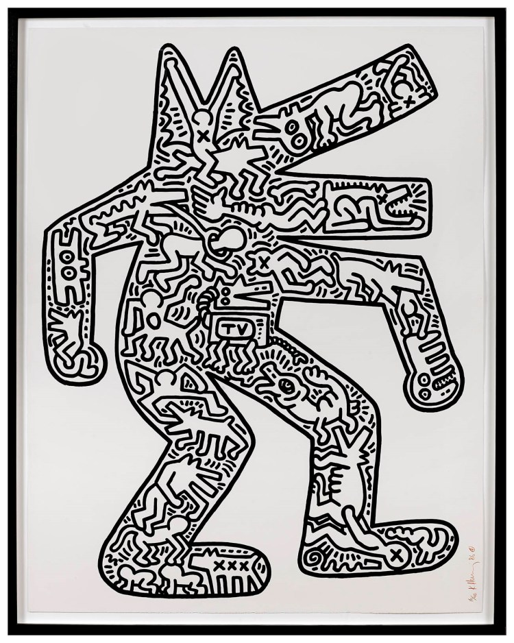 Dog Signed  by Keith Haring
