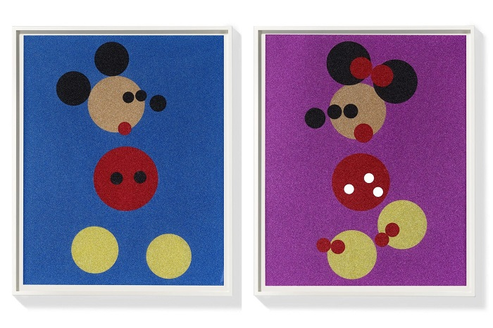 Mickey and Minnie (Small) Signed  by Damien Hirst
