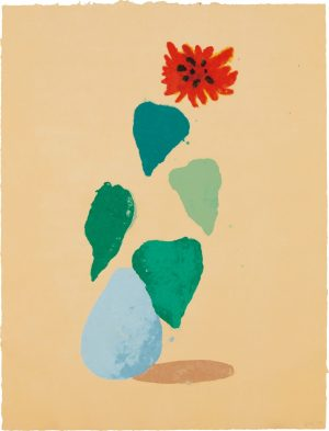 Sunflower - Unique paper pulp Signed  by David Hockney