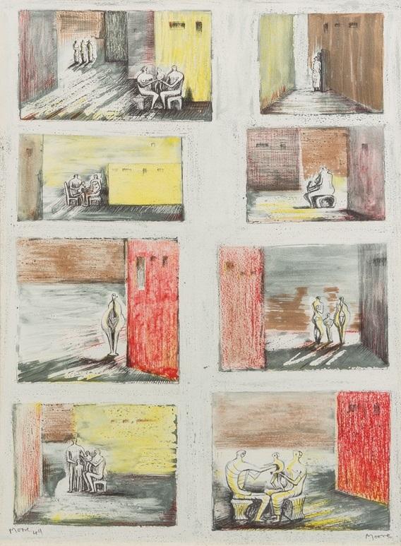 Henry_Moore_Figures_in_Settings_1948_49_1134_1