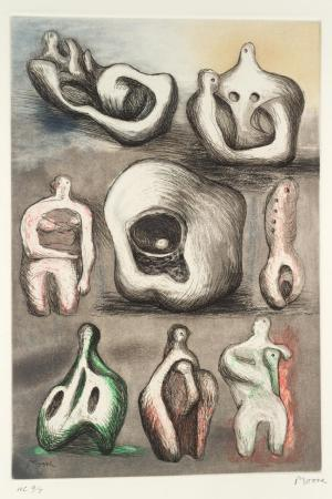 Eight Sculpture Ideas 1980-1 by Henry Moore OM, CH 1898-1986