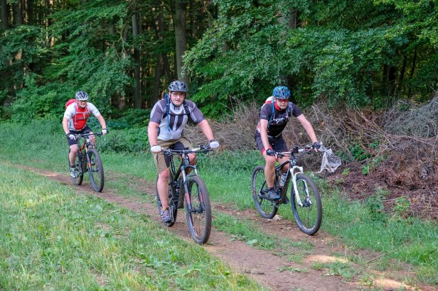 riders on a trail