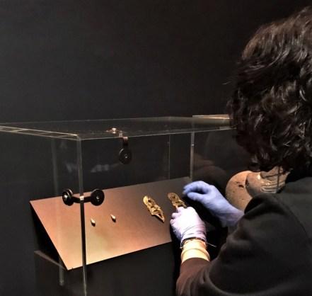 Montaje de la exposición Azteca, en el Museo de Etnología de Leiden, en el Reino de los Países Bajos. Foto Itzia Villicana. CNME-INAH (1)