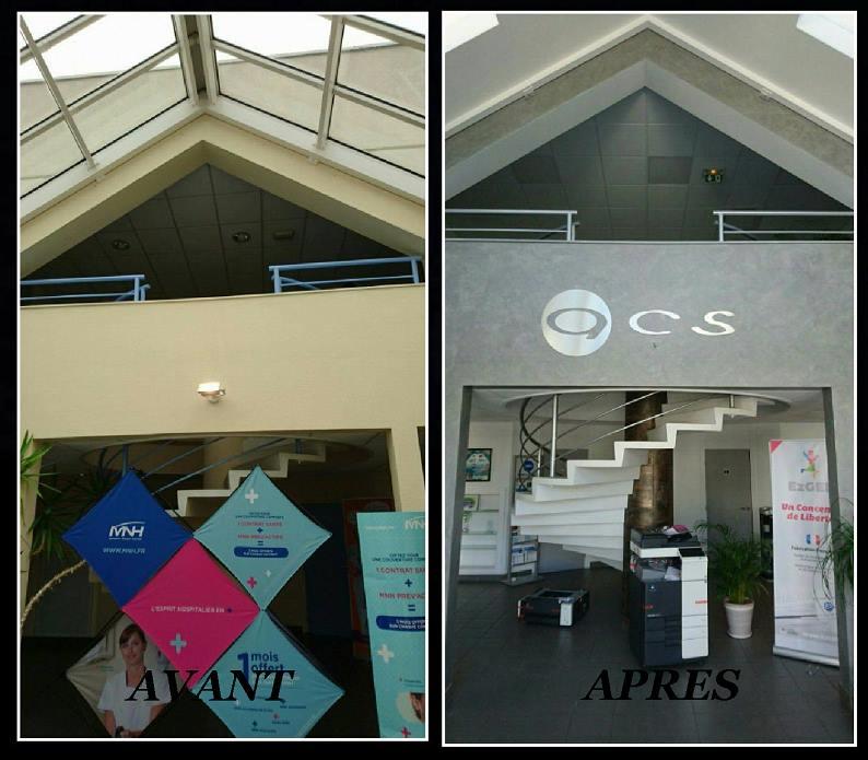 Rénovation de bureaux et hall d'accueil pour la société ACS
