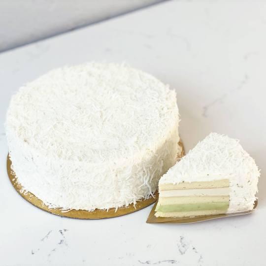 Large Coconut Lime Chiffon Cake DAB Spring 2021