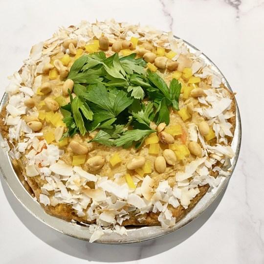 DAB Pie Night 2021 - Thai Massaman Chicken curry pie with Coconut milk and peanuts