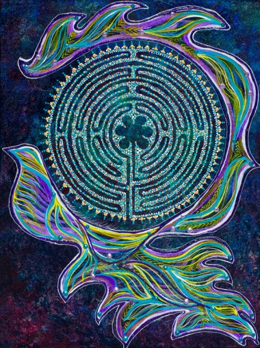 Peace Flow labyrinth painting