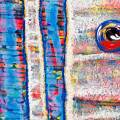 Interbeing detail - rainbow forest painting
