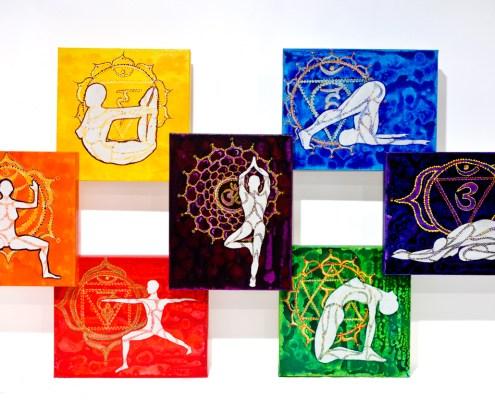 Chakra Yoga intuitive painitng