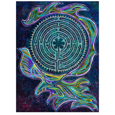Peace Flow intuitive painting