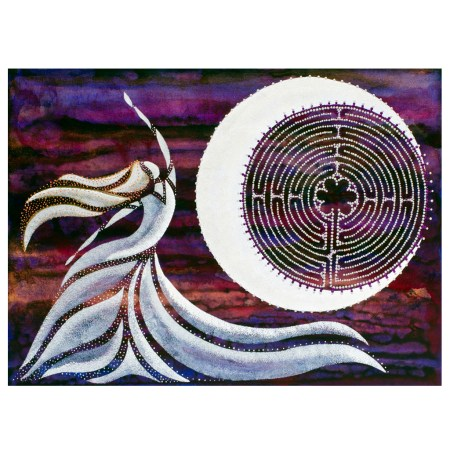 Sky Dancer intuitive painting