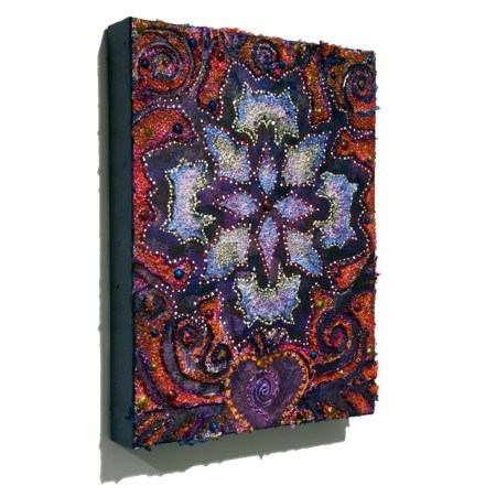 Heart Blossom intuitive painting