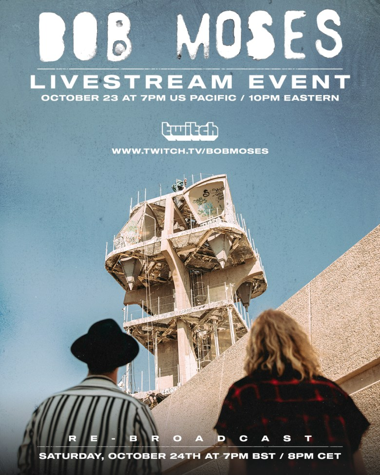 Bob Moses & Twitch announce exclusive partnership, launching with a  livestream concert Friday, October 23 | News | Domino - Domino