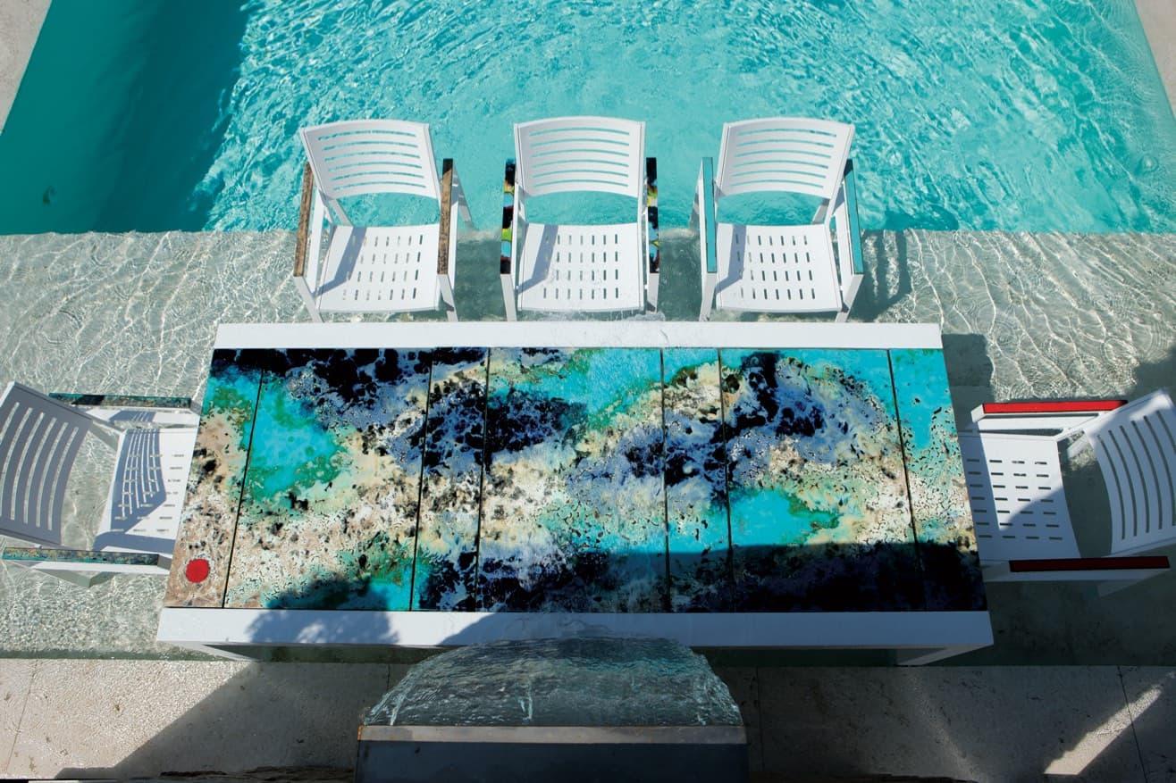 Scegli il tuo tavolo da giardino in ceramica deruta! Home Domiziani En Volcanic Lava Stone And Ceramics Made In Italy