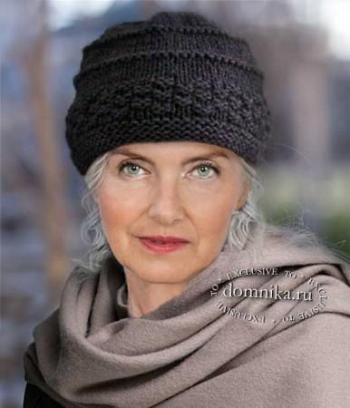 Capac tricot pentru femeile mai în vârstă