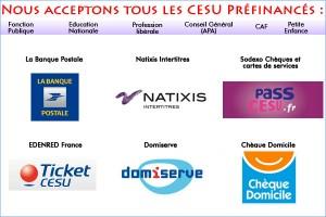 Liste des CESU acceptés