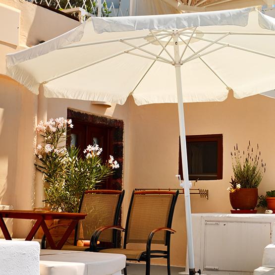 parasol deporte rectangulaire 4x3 m blanc