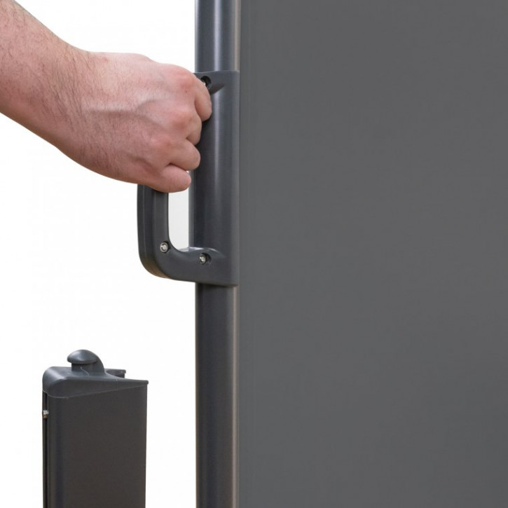 paravent exterieur retractable pret a poser gris 1 6 m x 3 m lxp