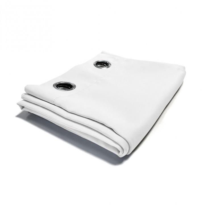 rideau occultant pret a poser oeillets en metal blanc 140x245 cm