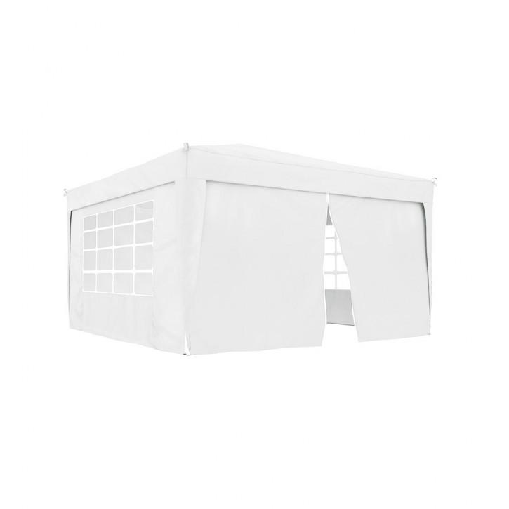 rideau supplementaire avec fermeture eclair pour tonnelle basic et premium 295 x 195 cm blanc