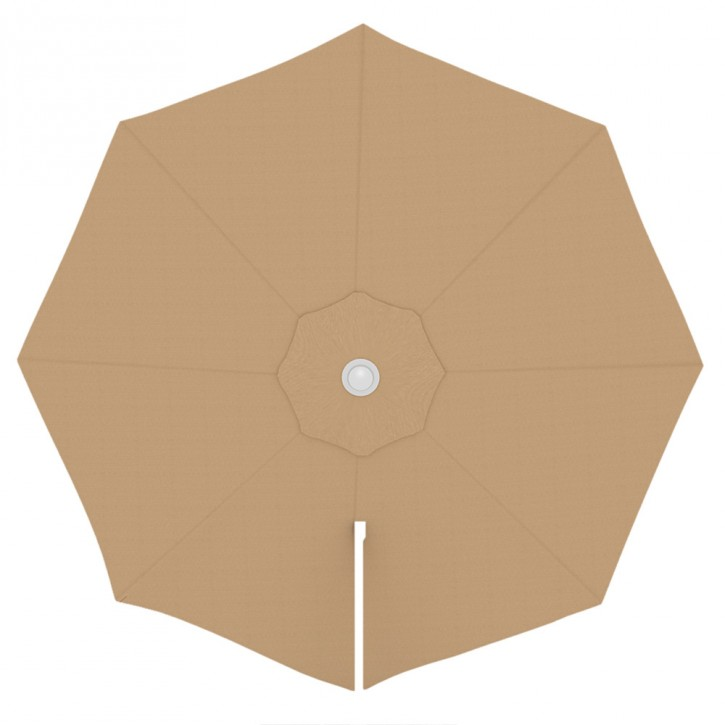 toile de parasol ronde 3 5 m parapenda creme