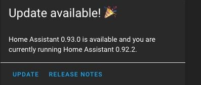 Home Assistant 0.93