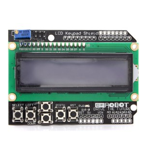LCD1602 character LCD, input and output Scheda Espansione, LCD Keypad Shield per Arduino