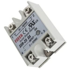 stato solido Relè SSR-25DA 25A /250V 3-32VDC 250V 60*45*23mm