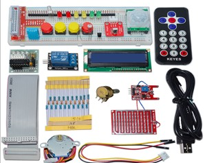 H042 GPIO Electronics Starter Kit 1602 LCD,IR remote,LED for Raspberry Pi