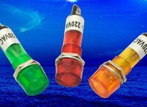 1 Pezzo Orange Power piccolo lights / work lights XD10-3 DC12V DC24V AC220V 10mm