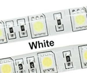 5050 SMD 12V 60Leds/Meter White IP35 Not-Impermeabile 5M/Reel , Price For 5M/Reel
